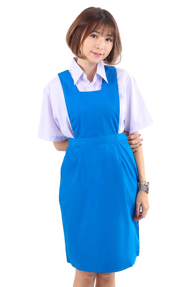 677495bafdec Secondary School Blue Pinafore Dress [M18077]