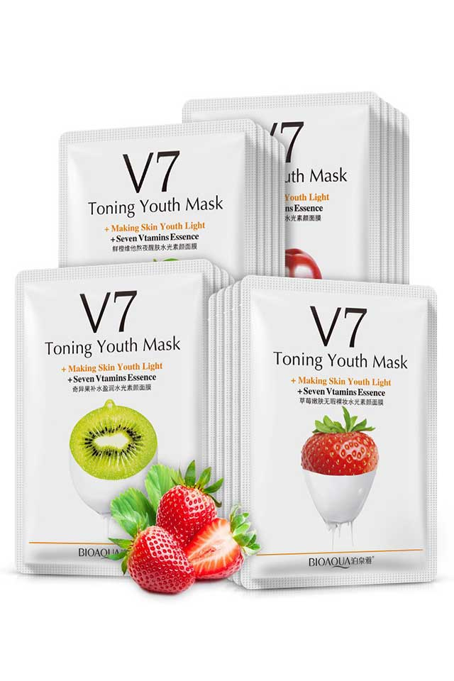 BIOAQUA V7 Wholesale Toning Youth Fruit Facial Mask KM Face Care [C541]