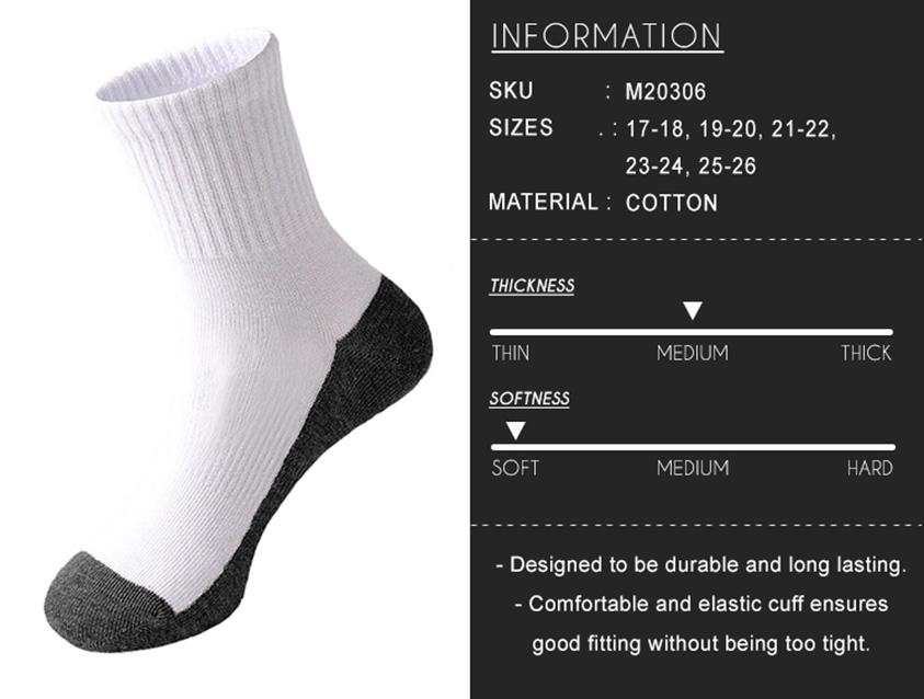 2 Pairs Longer White School Socks [M20151]