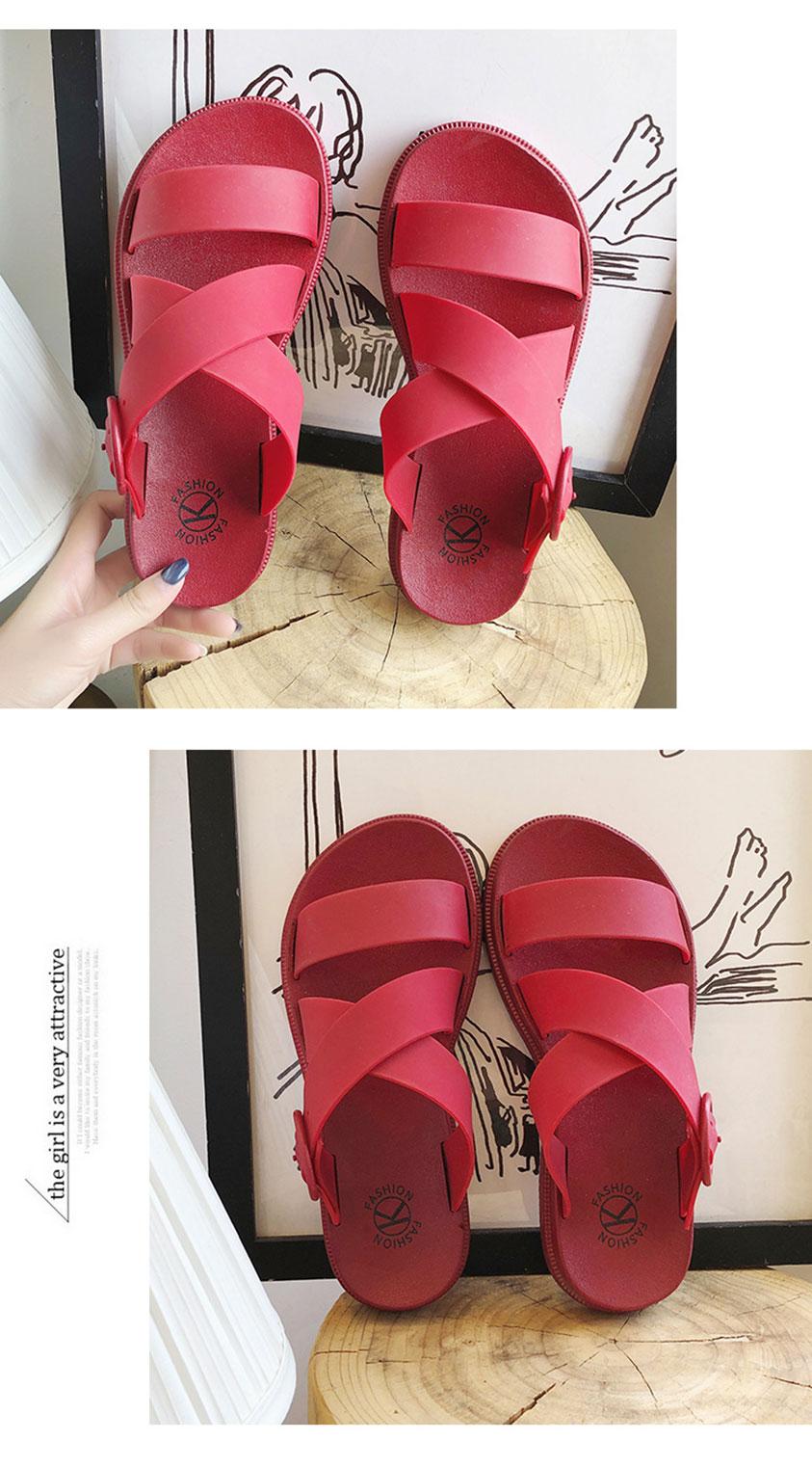 Andra Jelly Sandal Slipper Flat Shoes [SH25334]