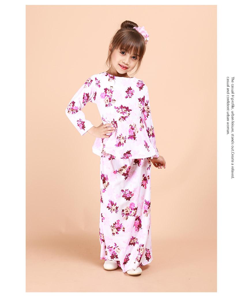 Kids Jameelah Floral Peplum Kurung Set [K26085]