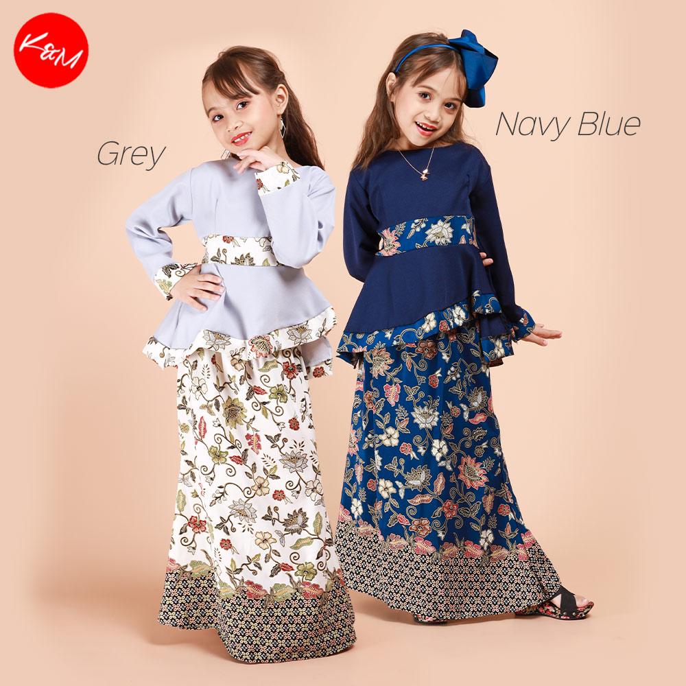 Kids Zahra Hi Low Vibrant Kurung Set [K26331]