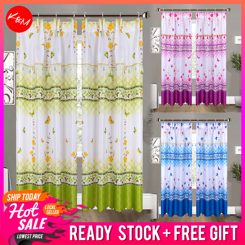 Butterfly Printed Door Curtain [H1691]