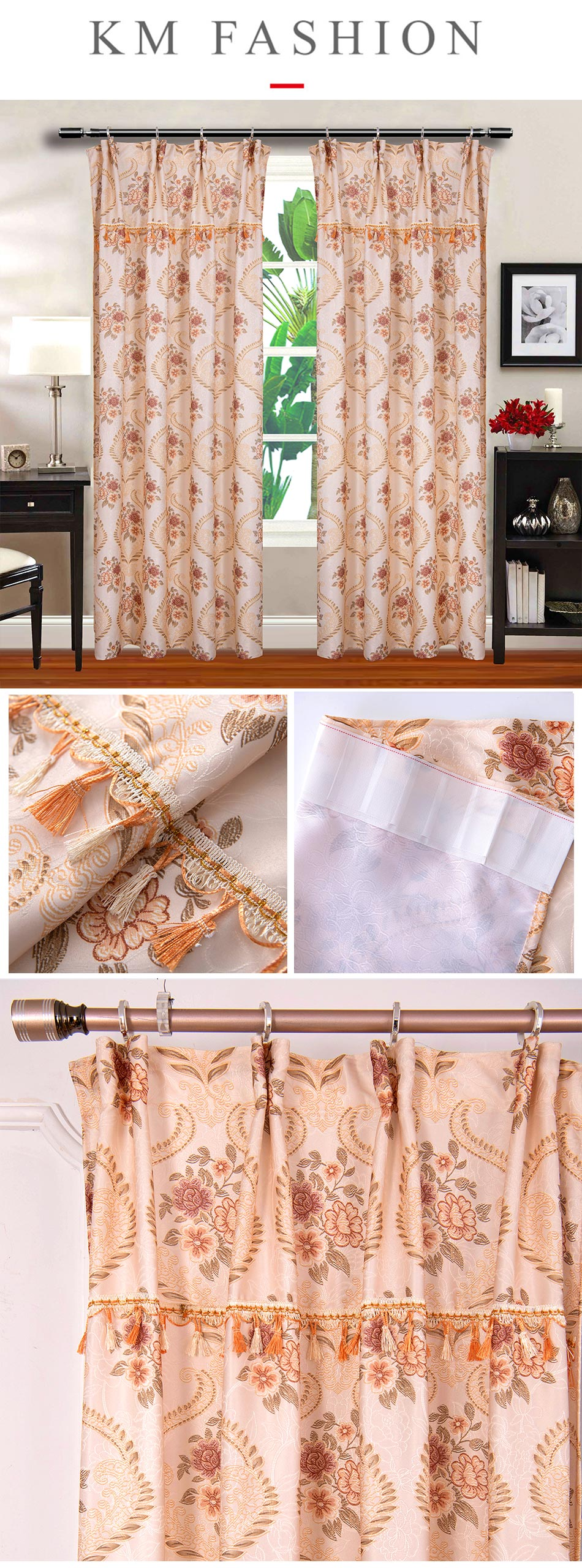 Classic Elegant Seamless Door Curtain [H28966]