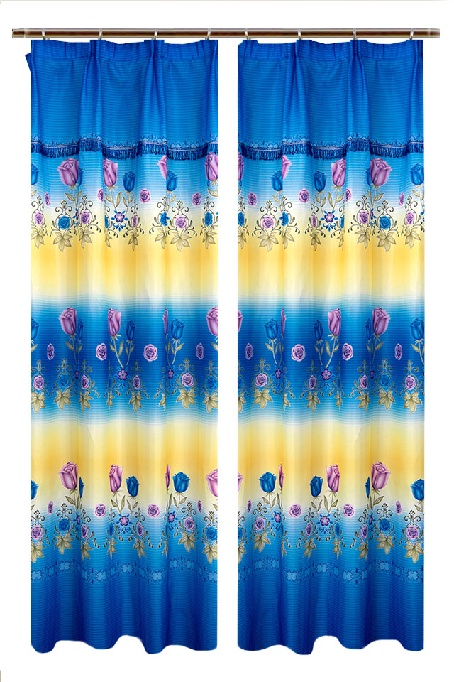 1 to 2pcs Flower Printed Curtains [H17548]