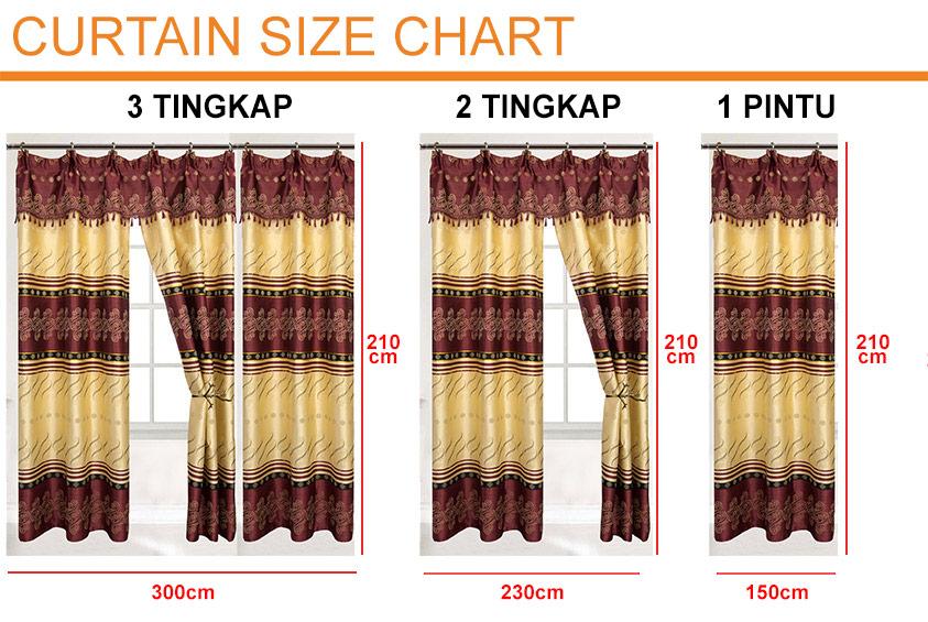 1 to 3pcs Classic Vintage Curtain [H17240]