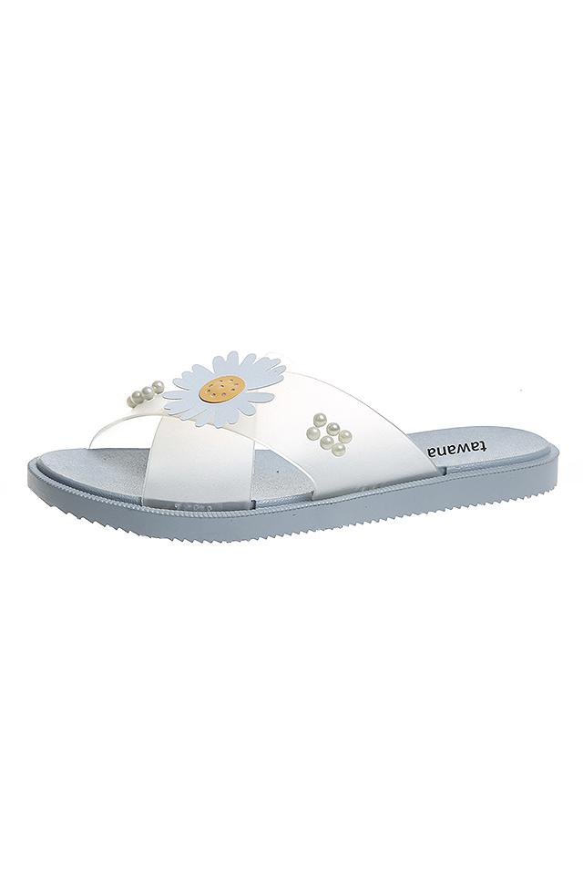 Daisy Summer Flower Cross Belt Sandal Shoes [SH30084]