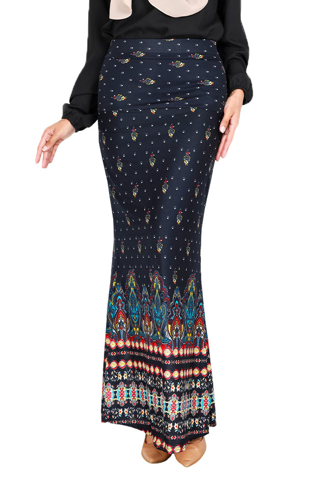 Ina Multi Printed Mermaid Long Skirt [S29281]