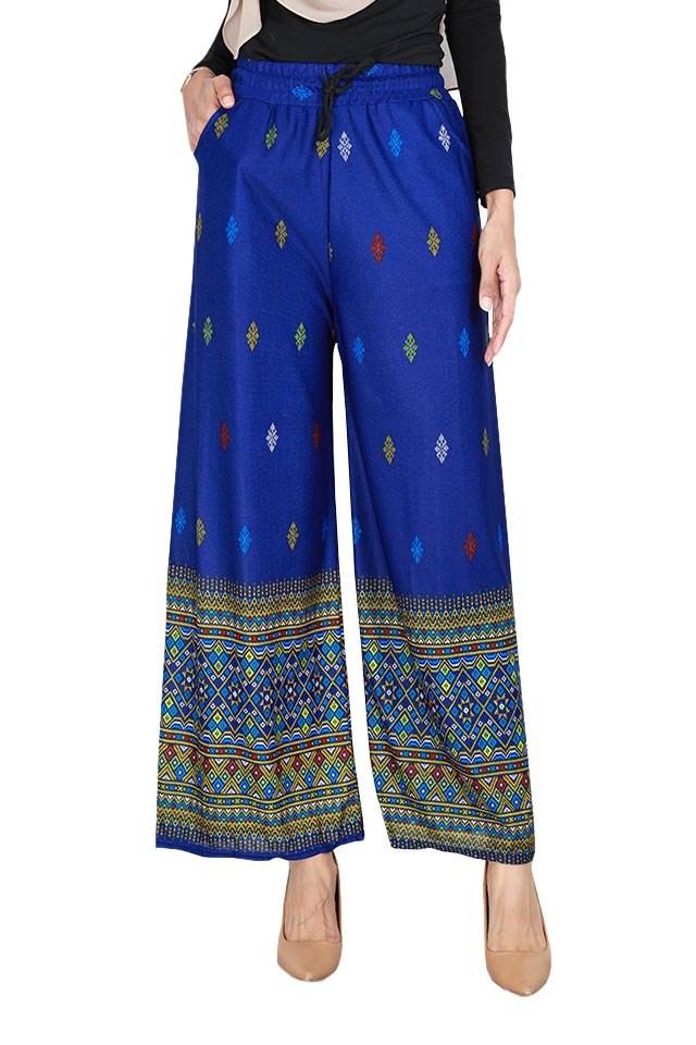Multi Printed Drawstring Long Pants [P29129]
