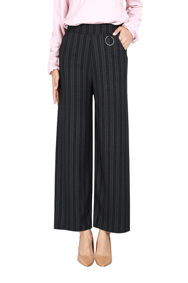 Business Women Vertical Striped Pants [P29275]