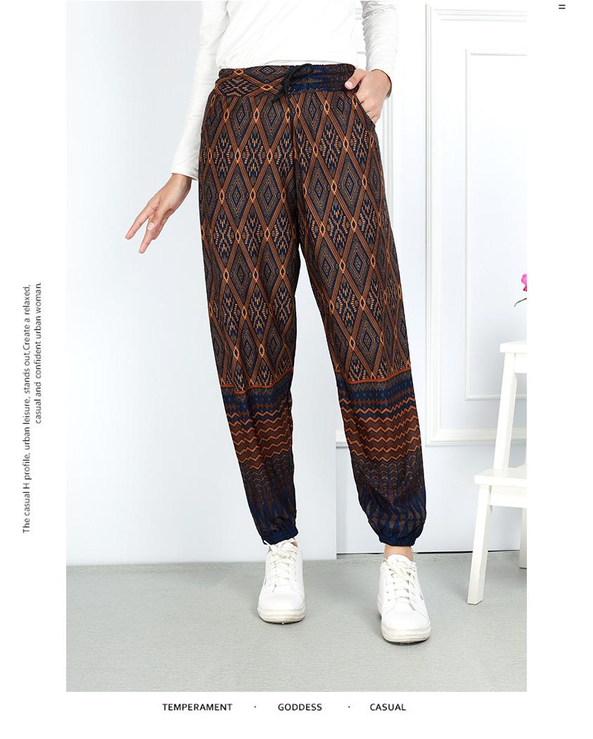 Multi Printed Aladin Long Pants [P29130]