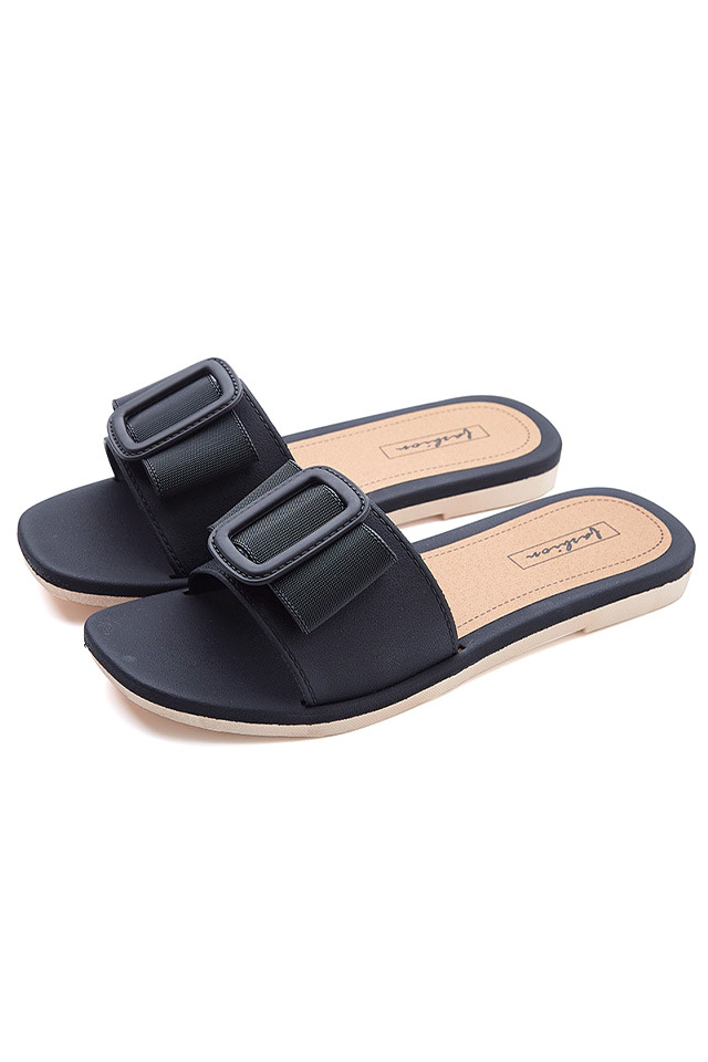 Big Button Knot Flat Sandals [SH31713]