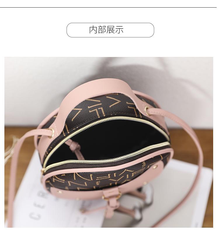 VIFN Retro Top Handle Round Sling Bag [BG33778]